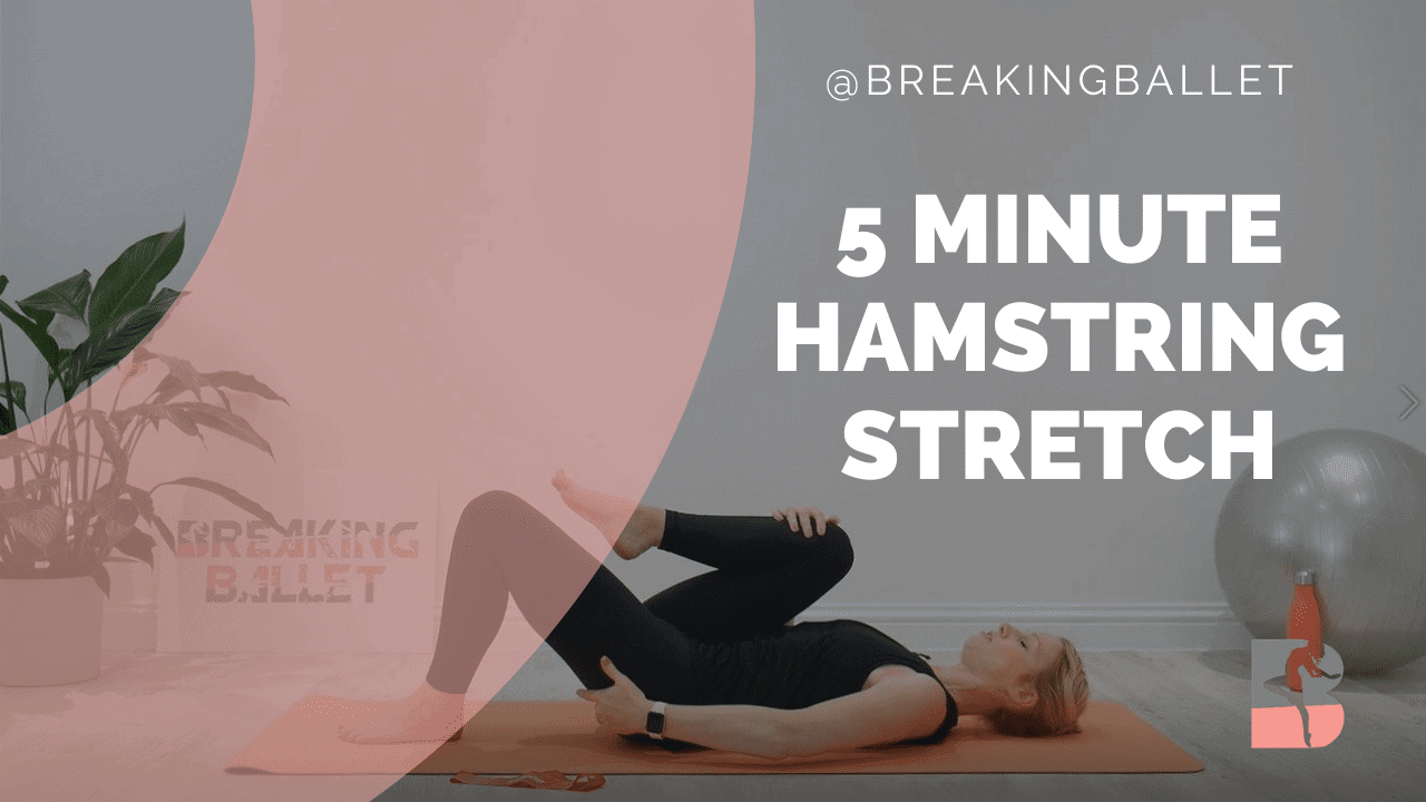 5 minute hamstring stretch that protects your back