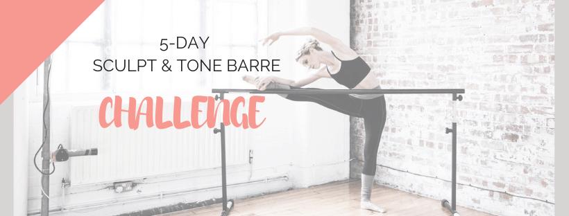 BRAND NEW 5-Day Sculpt & Tone Barre Challenge